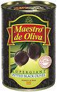 Фото Maestro de Oliva маслины черные Супергигант без косточки 425 г