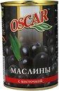 Фото Oscar маслины черные с косточкой 300 г
