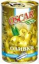 Фото Oscar оливки зеленые с анчоусом 300 г