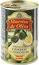 Фото Maestro de Oliva оливки зеленые с лимоном 300 г