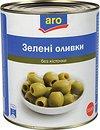 Фото Aro оливки зеленые без косточки 2800 г