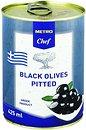 Фото Metro Chef оливки черные без косточки 425 мл