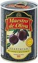 Фото Maestro de Oliva маслины черные Супергигант с косточкой 425 г