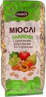 Фото Премія мюсли злаковые с сушеными фруктами и орехами 500 г