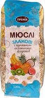 Фото Премія мюсли злаковые с цукатами экзотических фруктов 500 г