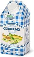 Фото Селянське молоко ультрапастеризованное 2.5% 500 мл