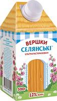 Фото Селянські сливки питьевые 12% 500 г