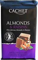 Фото Cachet молочный Almonds & Raisins 300 г