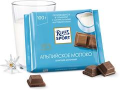 Фото Ritter Sport молочный Альпийское молоко (AlpenMilch) 100 г