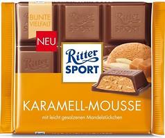 Фото Ritter Sport молочный Карамель мусс (Karamell-Mousse) 100 г