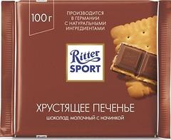 Фото Ritter Sport молочный с начинкой из сливочного печенья 100 г