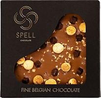 Фото Spell темный с молочным шоколад Соленая карамель с фундучным печеньем 120 г