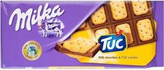 Фото Milka Молочный с соленым крекером Tuc 87 г