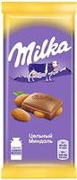 Фото Milka Молочный с цельным миндалем 90 г