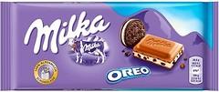 Фото Milka молочный с начинкой и печеньем Oreo 100 г