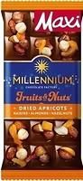 Фото Millennium Молочный Fruits & Nuts с миндалем, цельными лесными орехами, курагой и изюмом 140 г