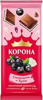Фото Корона молочный Смородина + крем 85 г