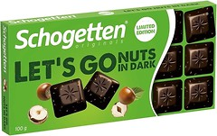Фото Schogetten черный Lets Go Nuts In Dark 100 г