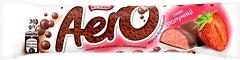 Фото Aero Шоколадный молочный и белый пористый со вкусом клубники 30 г