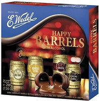 Фото E.Wedel Шоколадные бочечки с алкоголем Classic 200 г
