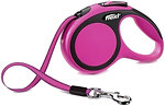 Фото Flexi Поводок-рулетка ленточная New Comfort XS 3 м / 12 кг pink
