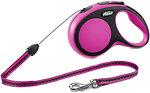 Фото Flexi Поводок-рулетка тросовая New Comfort S 8 м / 12 кг pink