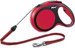 Фото Flexi Поводок-рулетка тросовая New Comfort M 8 м / 20 кг red