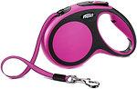 Фото Flexi Поводок-рулетка ленточная New Comfort M 5 м / 25 кг pink
