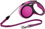 Фото Flexi Поводок-рулетка тросовая New Comfort M 5 м / 20 кг pink